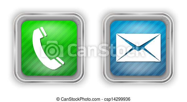 Elementos de diseño por teléfono y correo - csp14299936