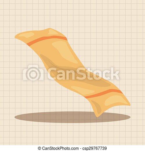 Elementos temáticos de toallas de baño - csp29767739