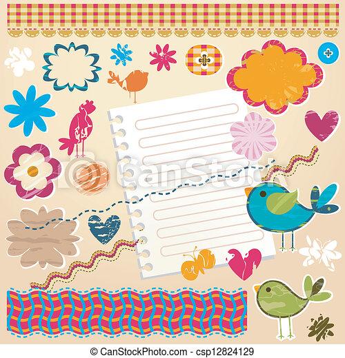 Elementos textuales de diseño - csp12824129