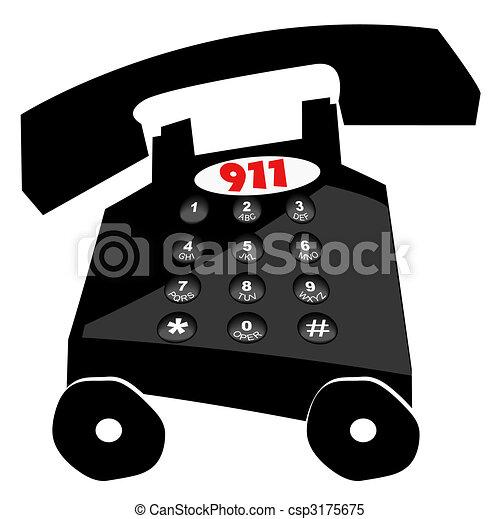 Llamando a emergencias por teléfono - csp3175675