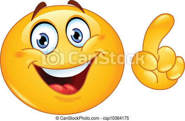 Hacer un punto emoticon - csp10364175