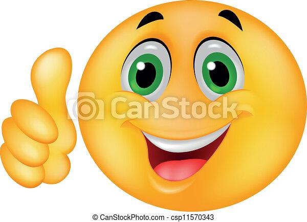 Feliz rostro de emoticon sonriente - csp11570343