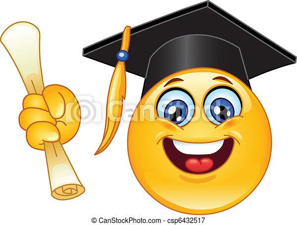 Emoticon de graduación - csp6432517