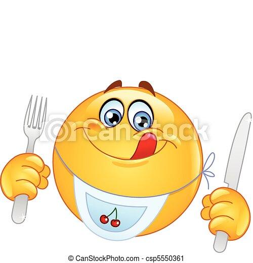 Emoticon hambriento - csp5550361
