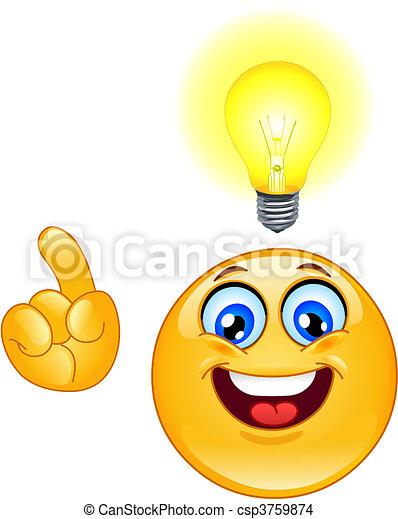 Idea emoticon - csp3759874