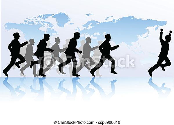 La gente de negocios compite - csp8908610