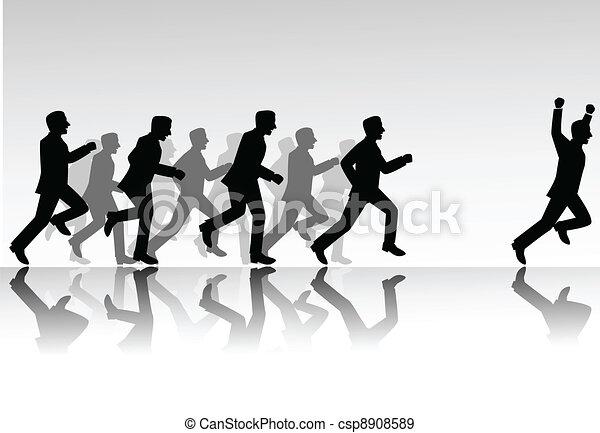 La gente de negocios compite - csp8908589