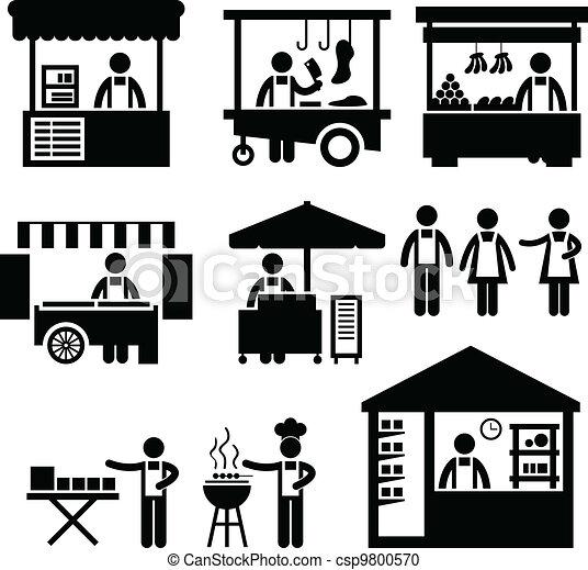 El mercado de las cabinas de comercio - csp9800570
