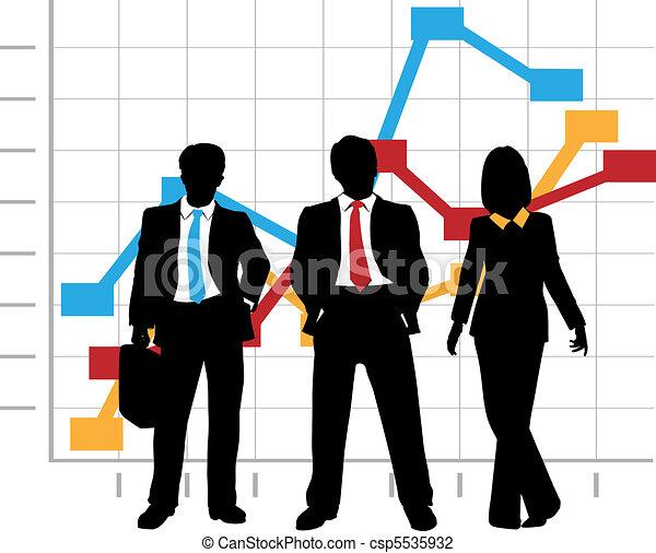 La compañía de ventas de negocios, gráficos de crecimiento - csp5535932