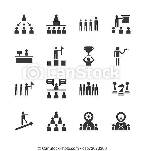 Icono de liderazgo de negocios. Ilustración vectorial - csp73073300