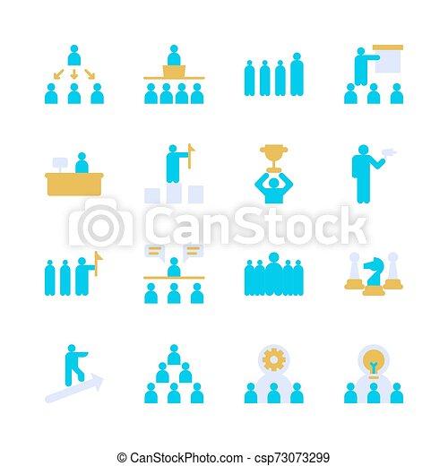 Icono de liderazgo de negocios. Ilustración vectorial - csp73073299