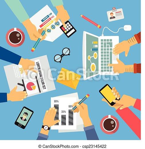 Gente de negocios - csp23145422