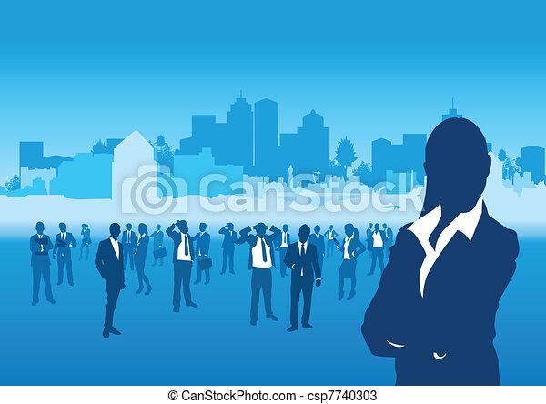 Gente de negocios - csp7740303
