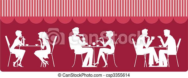 En el café - csp3355614