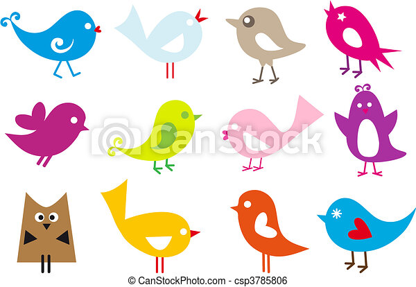 Hermosos pájaros - csp3785806