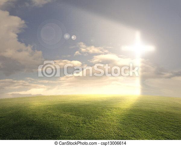 Una cruz brillante - csp13006614