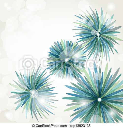 Encuadre vectorial antiguo en antecedentes florales - csp13923135