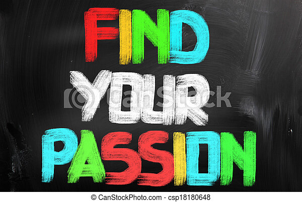 Encuentra tu concepto de pasión - csp18180648