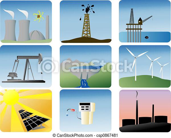iconos de energía preparados - csp0867481