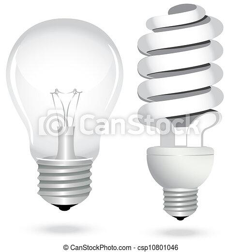 Energía para ahorrar electricidad de bombillas - csp10801046