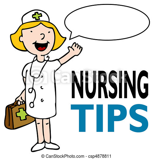Enfermera con kit médico - csp4878811