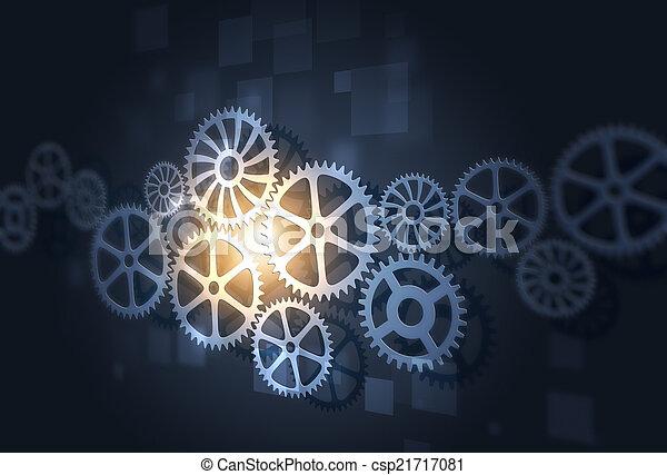 Engranajes abstractos concepto de fondo comercial - csp21717081