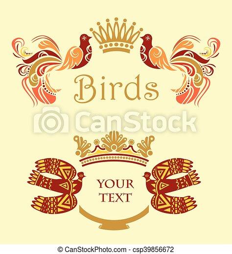 Enmarcar con pájaros - csp39856672
