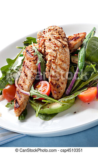 Ensalada de pollo - csp4510351