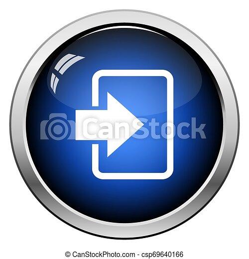 Entra en icono - csp69640166