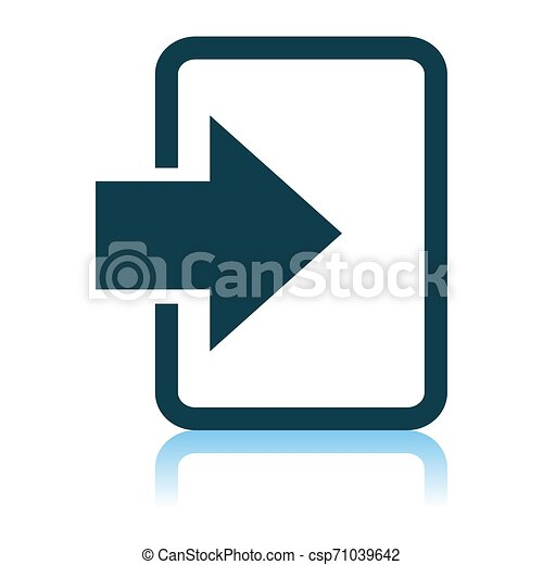 Entra en icono - csp71039642