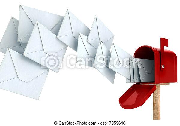 Envoltorio 3D y buzón - csp17353646