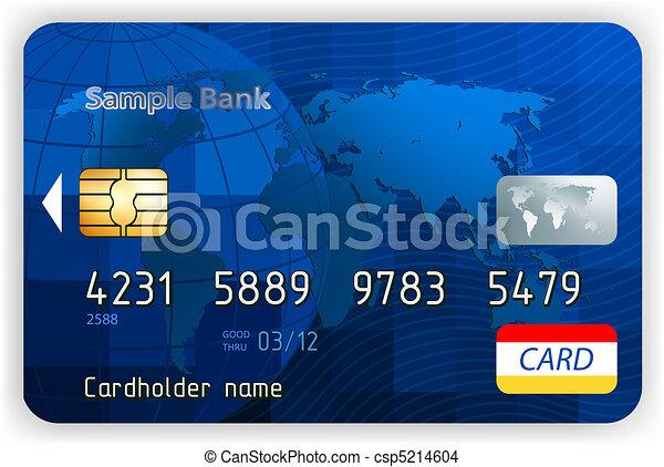 Tarjetas de crédito, vista al frente (sin transparencia). EPS 8 - csp5214604