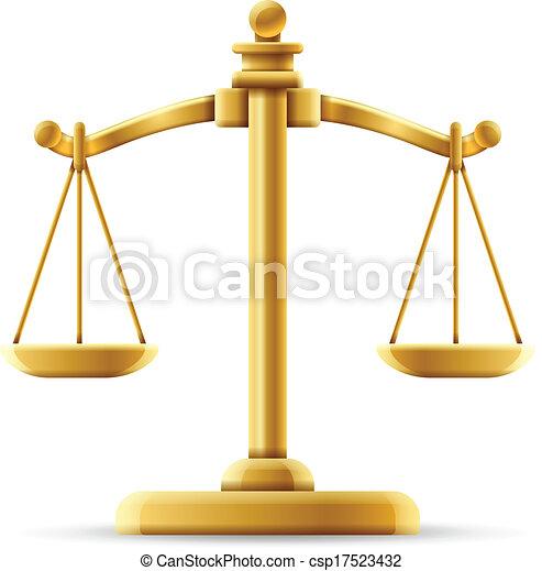Balance de la escala de justicia - csp17523432