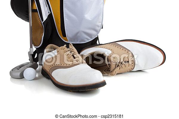 Equipo de golf en blanco - csp2315181