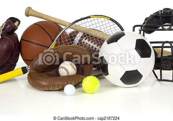Equipo deportivo en blanco - csp2187224