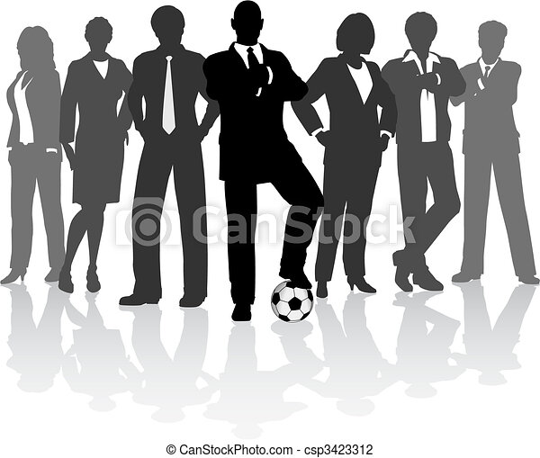 Equipo de fútbol - csp3423312