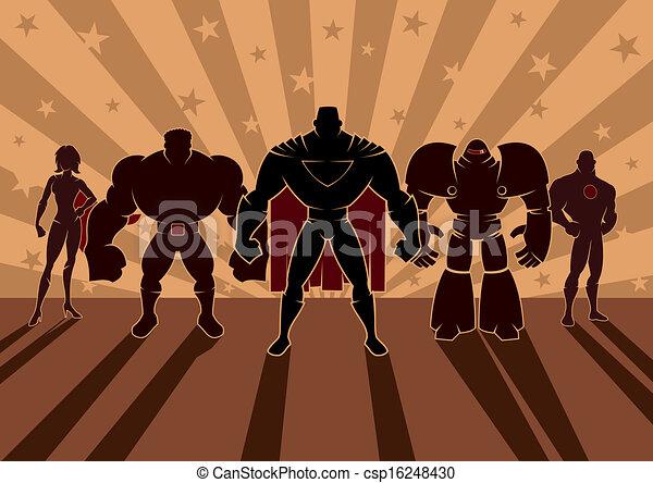 Equipo de superhéroes - csp16248430