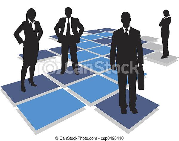 Equipo de negocios - csp0498410