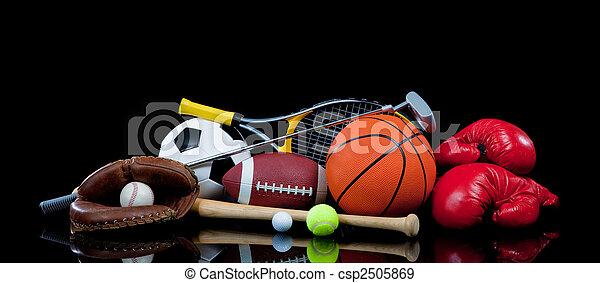 Equipo deportivo surtido en negro - csp2505869