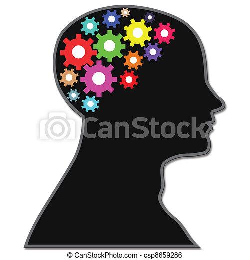Equipos de proceso cerebral - csp8659286