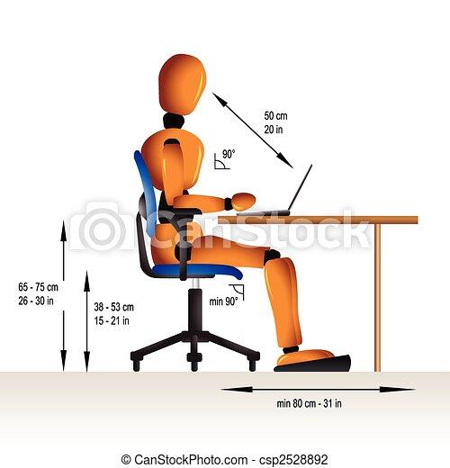 Sentada ergonómica - csp2528892