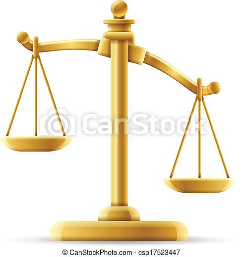 Escala de justicia desequilibrada - csp17523447