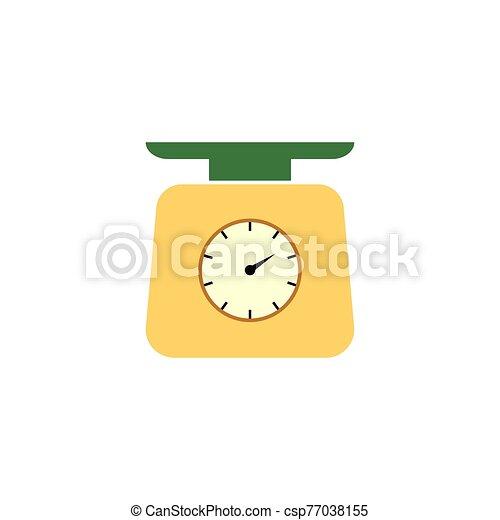 escala, peso, icono, balance, aislado, vector. - csp77038155