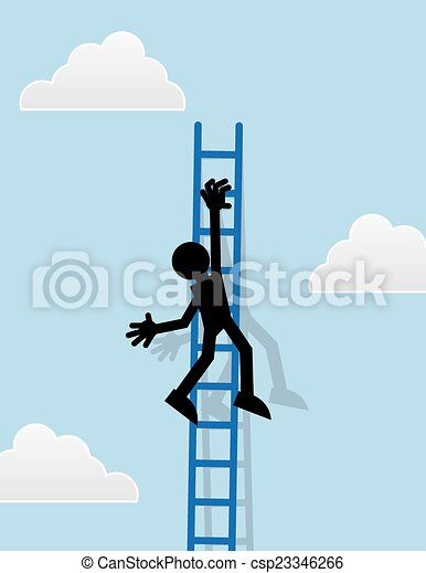 Figura colgando de la escalera - csp23346266