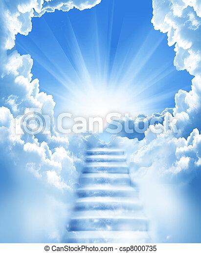 Escalones en el cielo - csp8000735