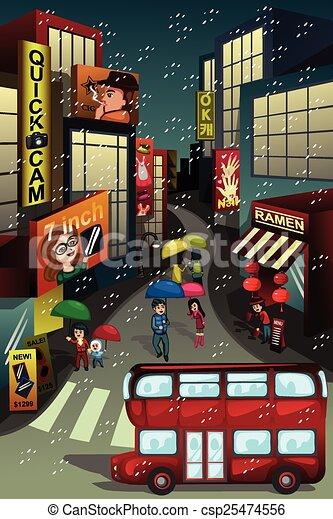 La escena de la ciudad - csp25474556