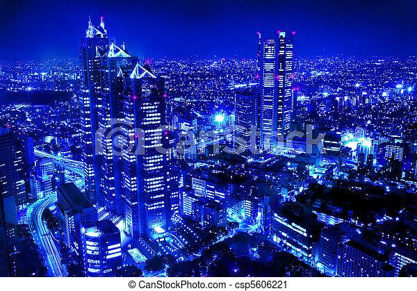 La escena de la noche de la ciudad - csp5606221