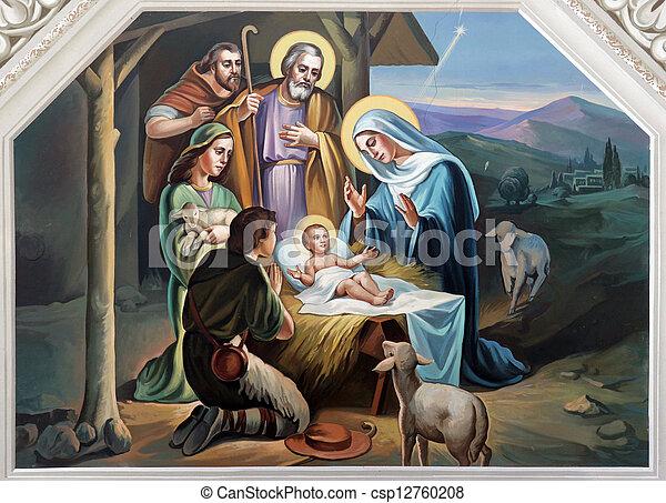 Escena de Navidad - csp12760208