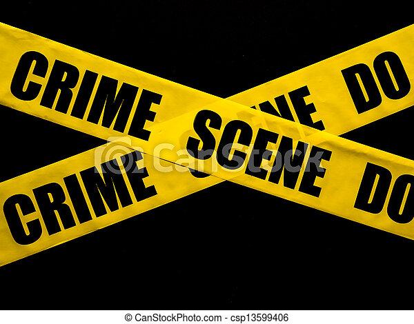 Escena del crimen - csp13599406