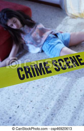 Escena del crimen - csp46920613
